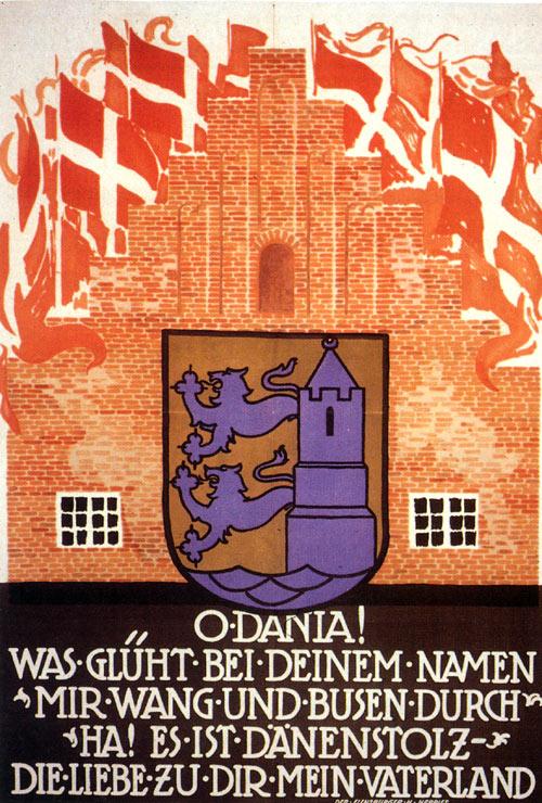Dansk valgplakat fra afstemningen 1920
