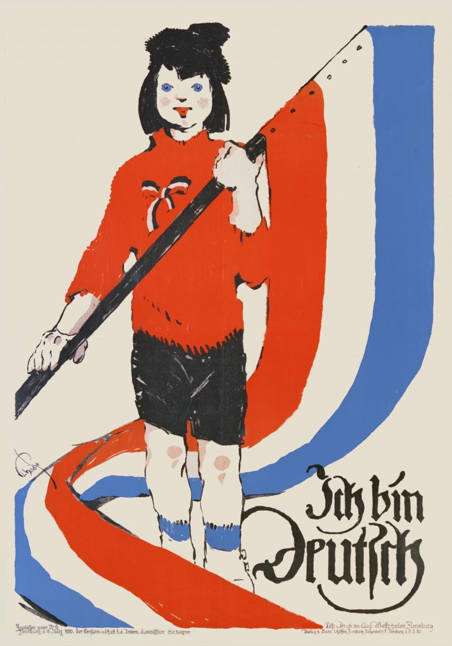Ich bin deutsch - Plakat fra afstemningen 1920