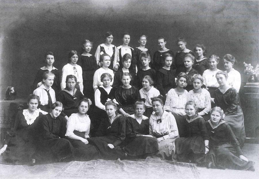 En klasse fra Auguste Viktoria-skolen i Flensborg, 1919 .
