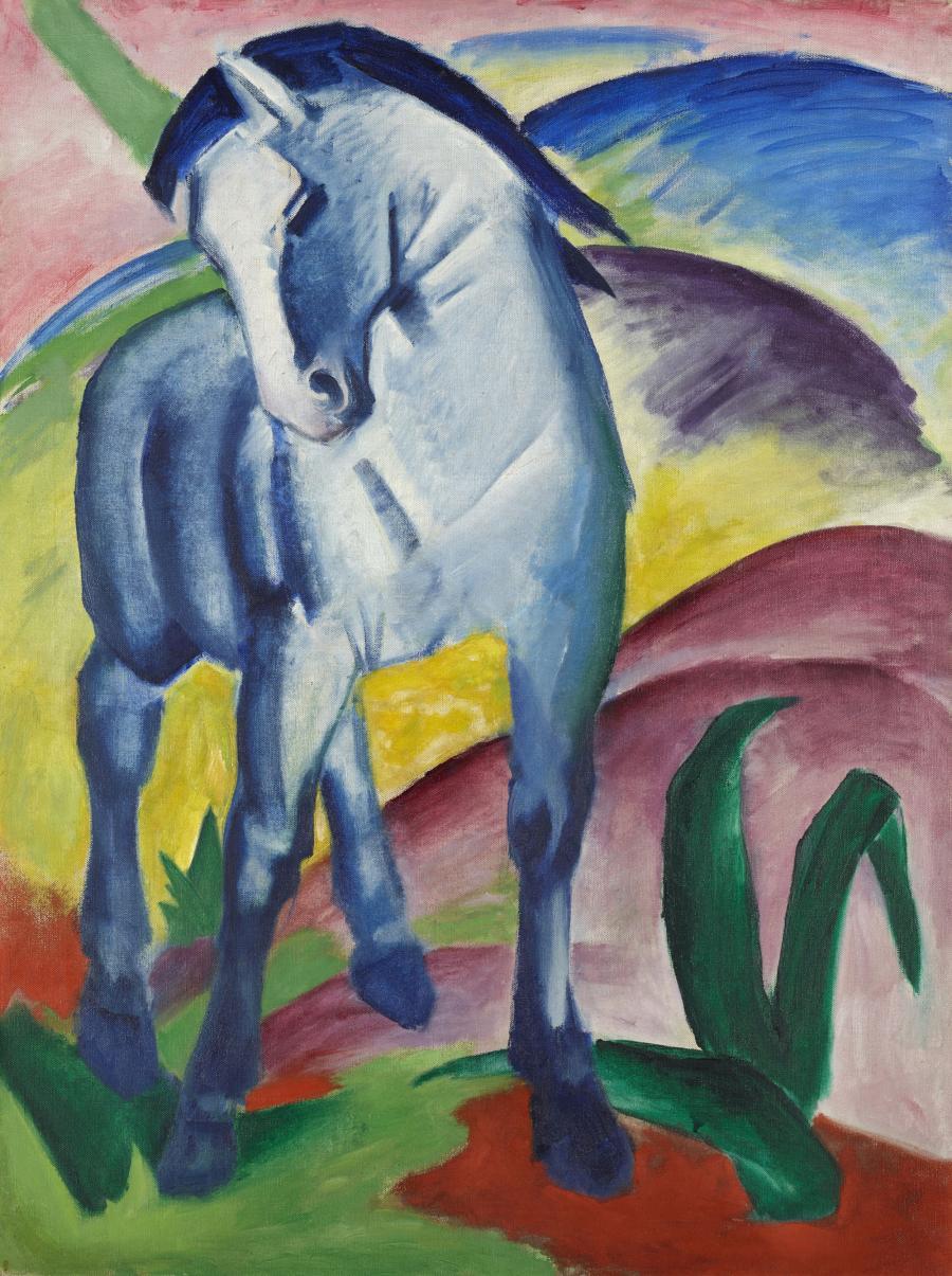 Franz Marc: Blaues Pferd, 1911