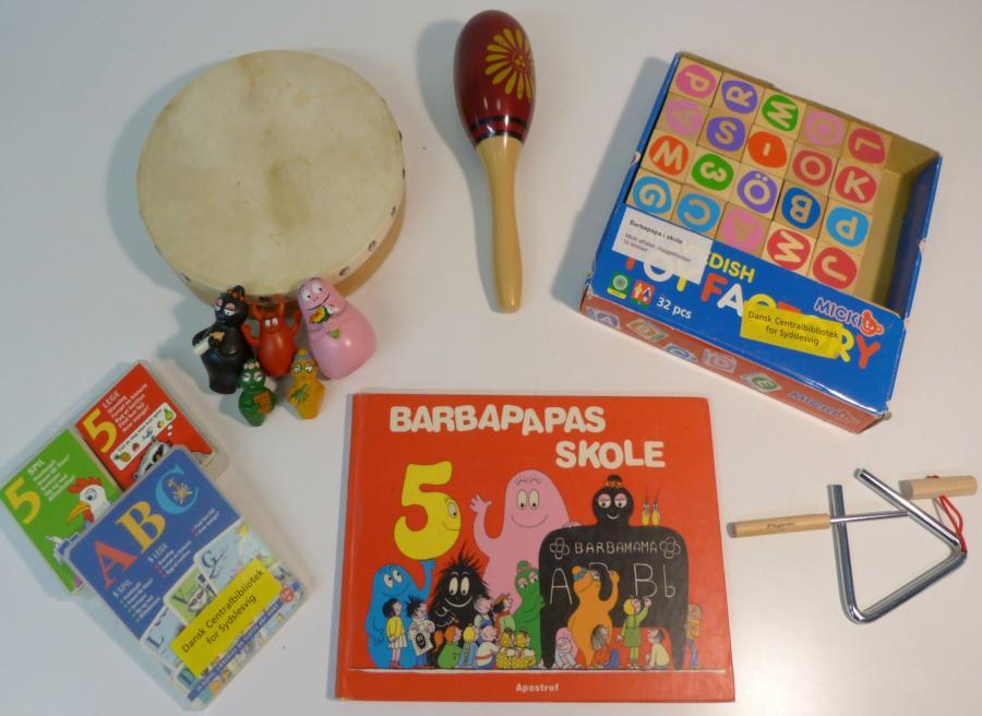 Barbapapa i skole - sprogkuffert for 4-6 årige