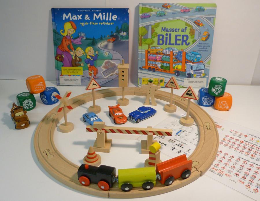 Biler, tog og trafik - sprogkuffert for 3-6 årige