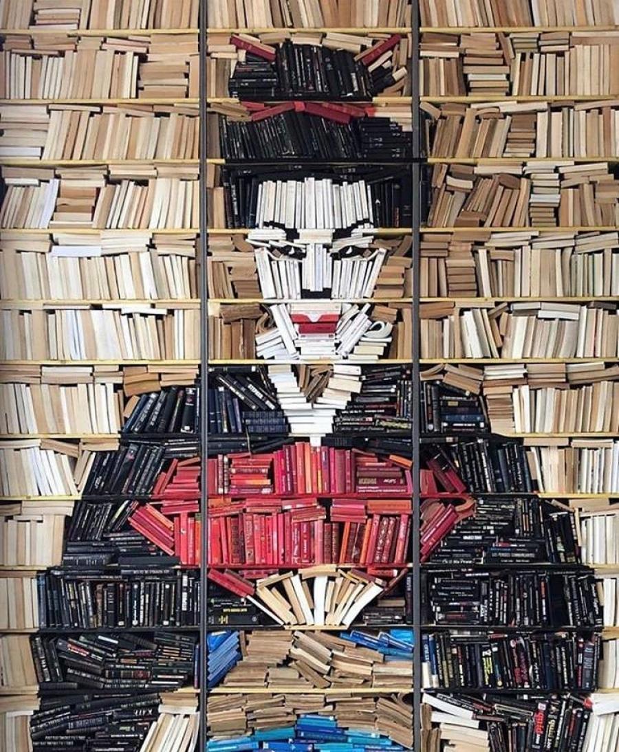 Book Art på hylder