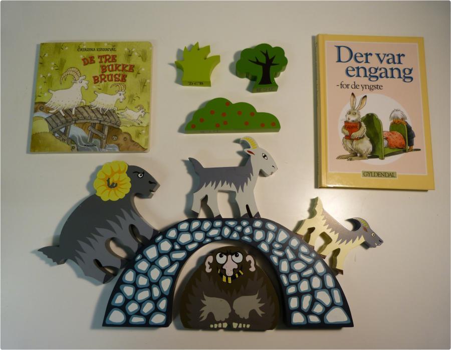 De tre Bukke Bruse 1 - sprogkuffert for 2-6 årige
