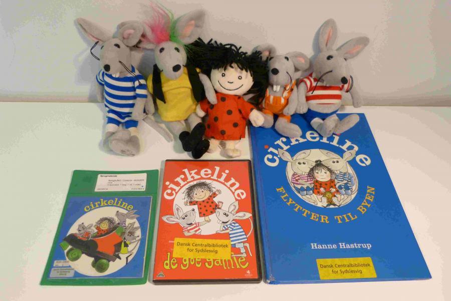 Cirkeline - storbyens mus - Sprogkuffert for 4-7 årige