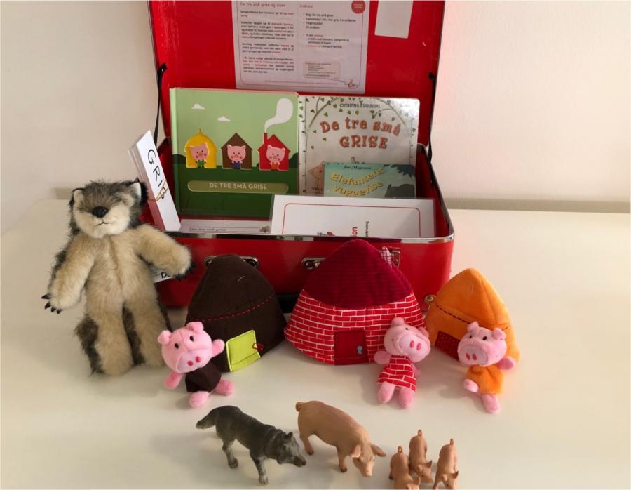 De tre små grise og ulven - sprogkuffert for 3-6 årige
