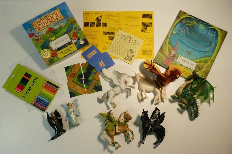 Fabeldyr og sagnfolk - sprogkuffert for 6-10 årige
