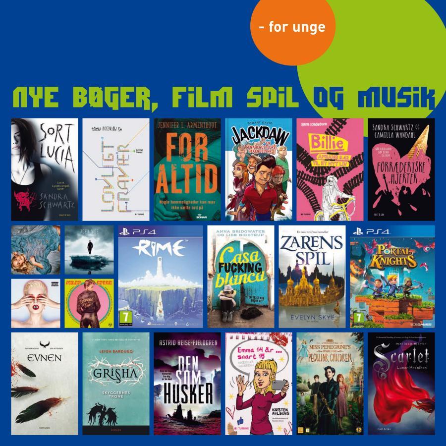 Nye bøger, film spil og musik