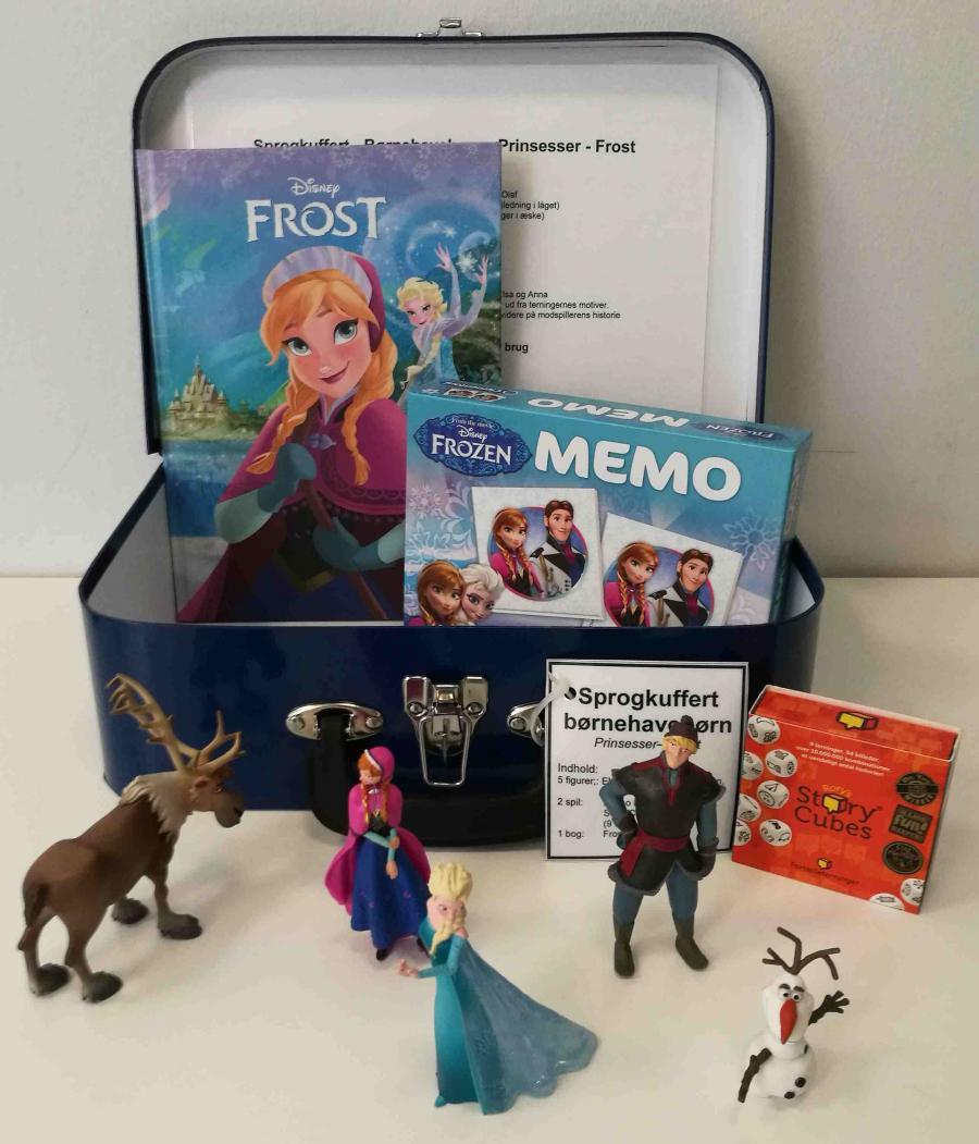 Frost - Prinsesser - sprogkuffert for 3-6 årige
