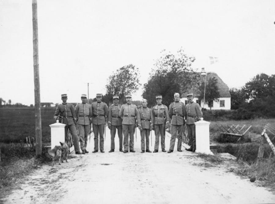 Grænsegendarmer ved Skodborghus