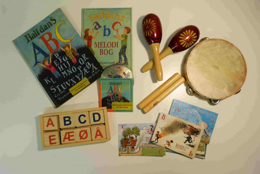 Halfdans ABC - sprogkuffert for 4-7 årige