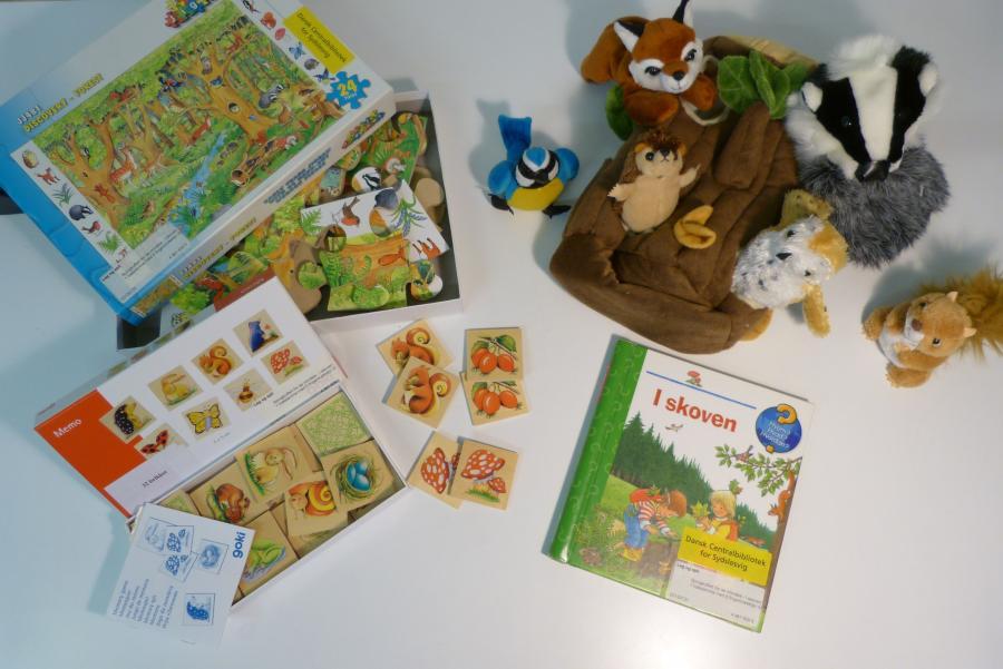 I skoven - sprogkuffert for 1-3 årige
