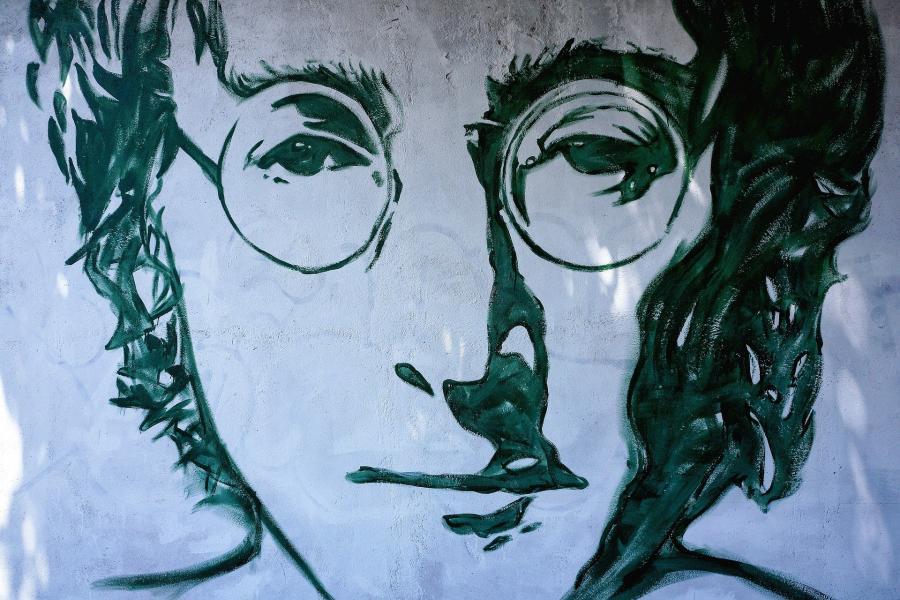 John Lennon - Streetart (Kilde: Pixabay)