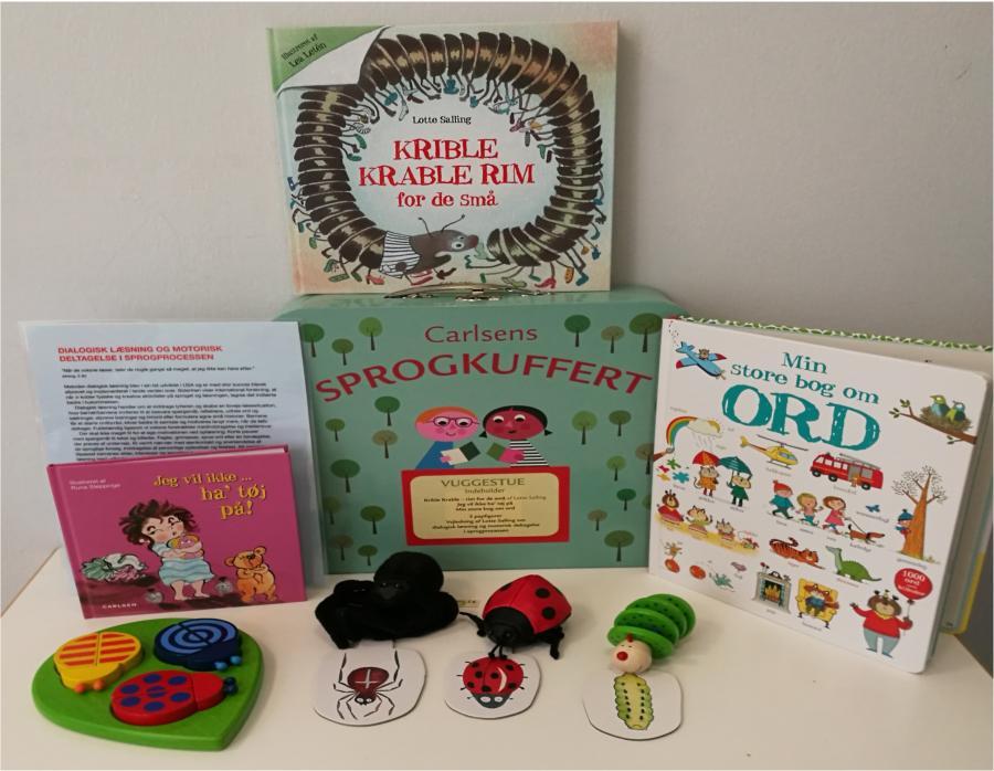 Kriblekrable - Sprogkuffert for 1-3 årige