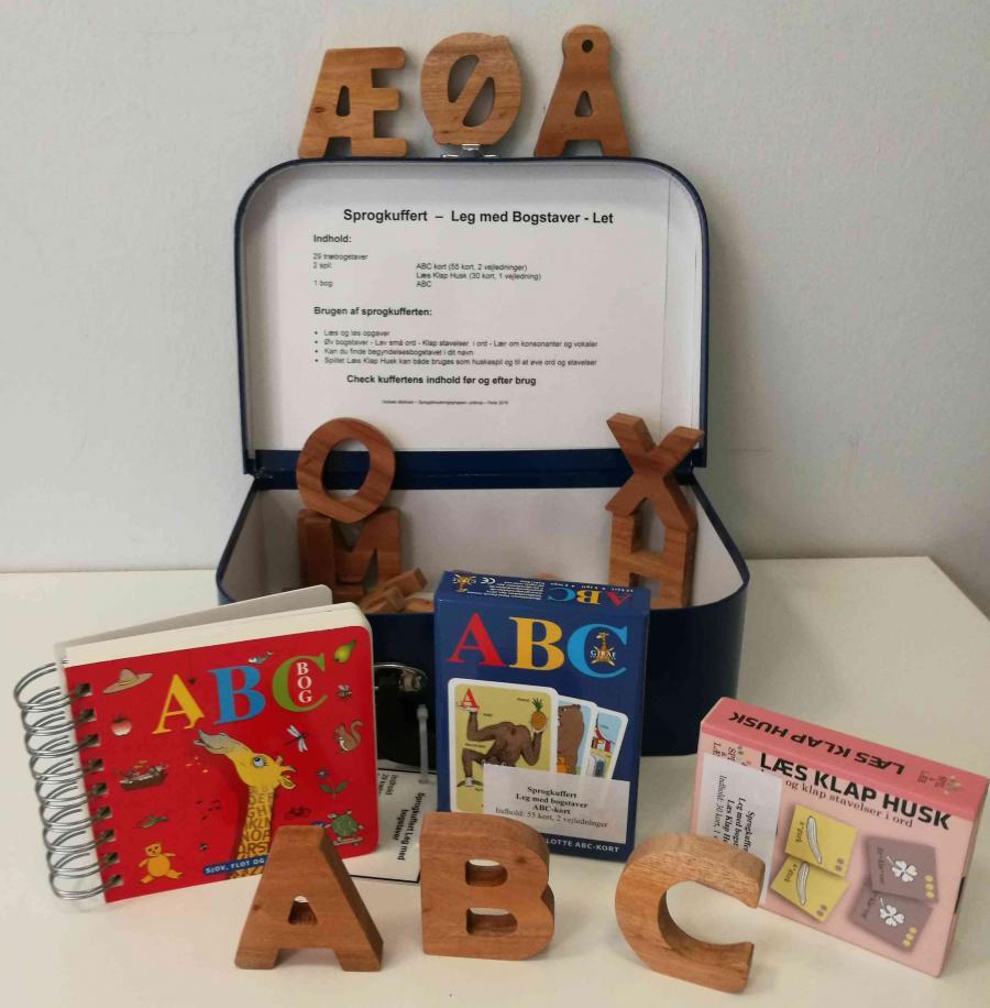 Leg med bogstaver - sprogkuffert for 5-7 årige