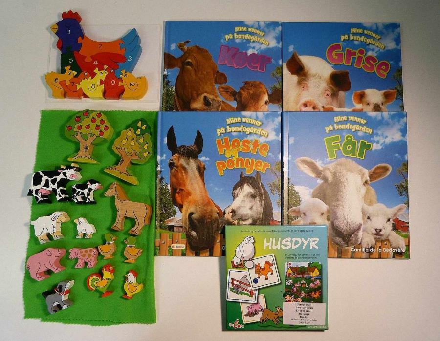 Livet på landet - sprogkuffert for 3-6 årige