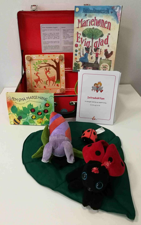 Mariehønen Evigglad - sprogkuffert for 3-6 årige