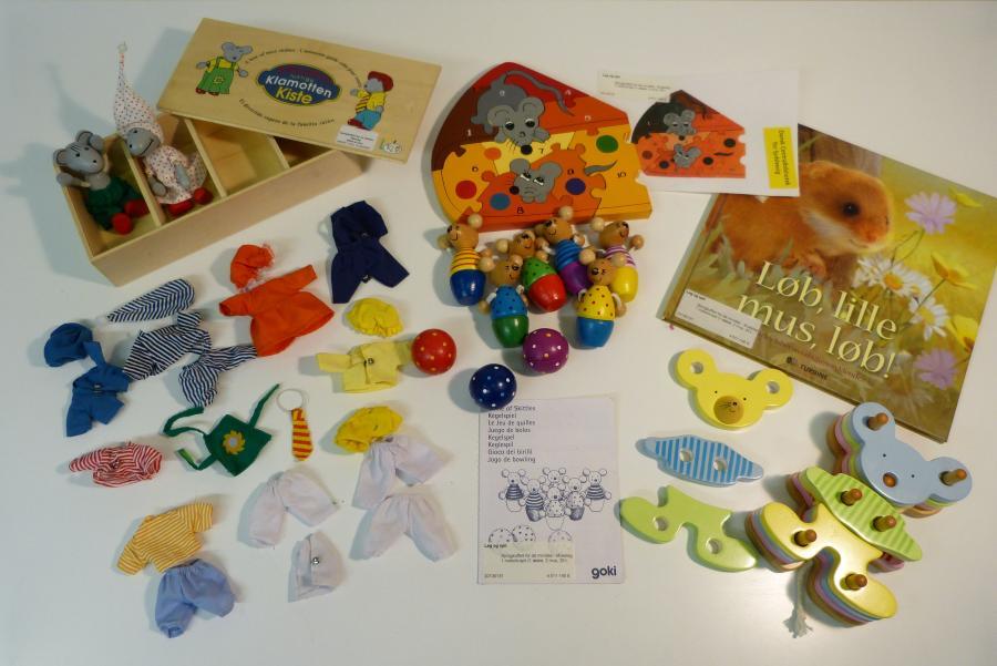 Museleg - sprogkuffert for 4-7 årige