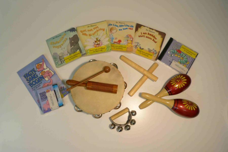 Musik og rytme - sangkuffert for 3-6 årige