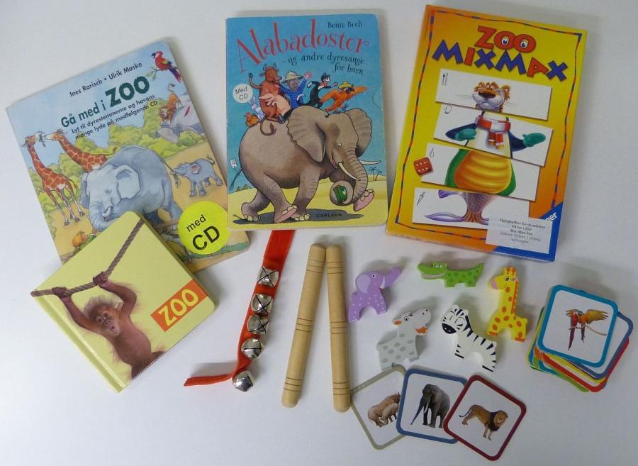 På tur i Zoo - sprogkuffert for 3-6 årige