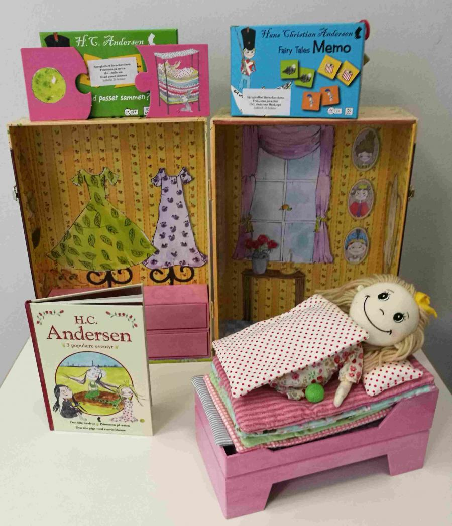 Prinsessen på ærten - sprogkuffert for 3-6 årige