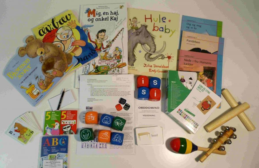 Rim, rytmer og legelæsning - sprogkuffert for 4-7 årige