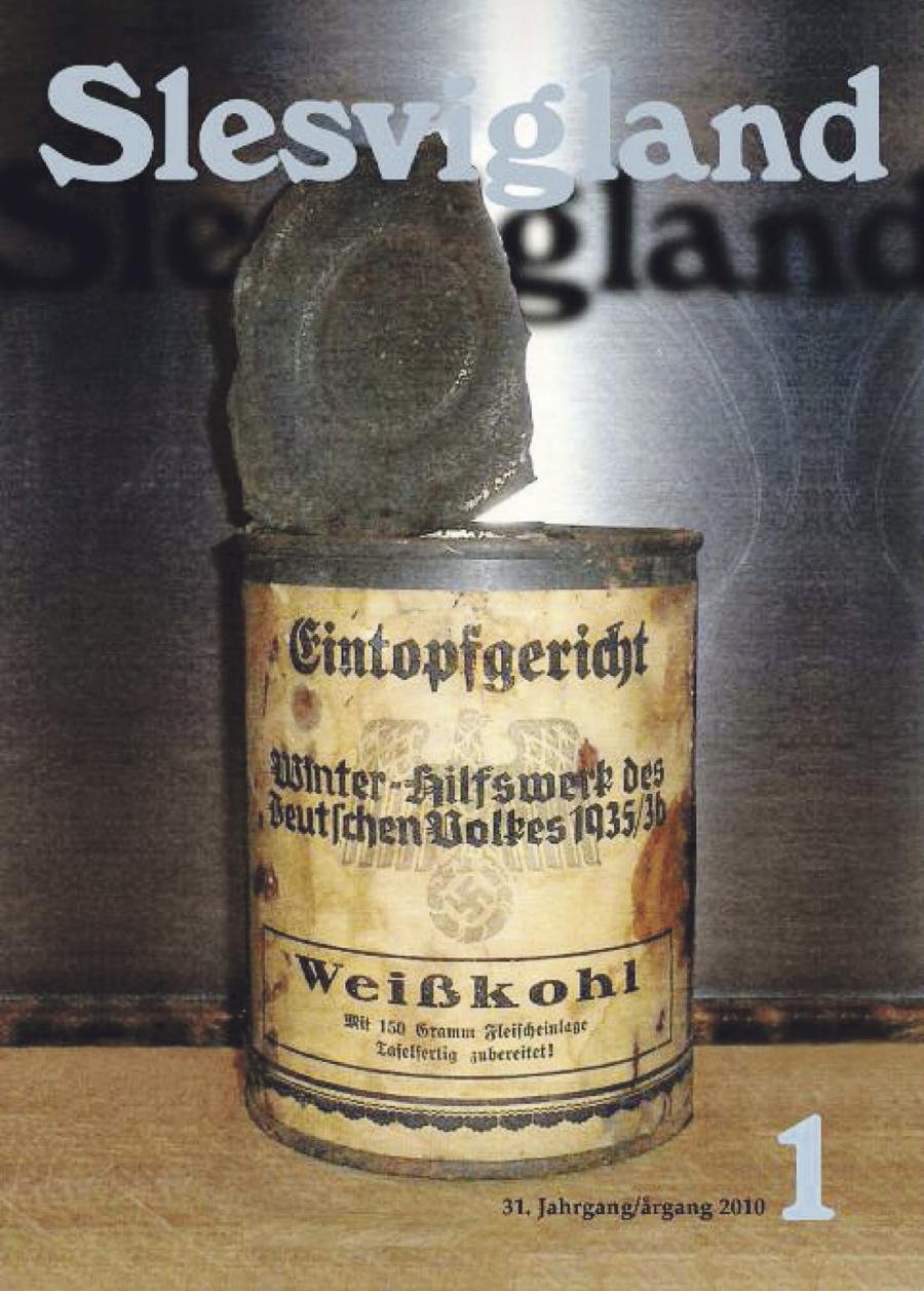 Det sidste nummer af Slesvigland, der udkom i 2010. (Kilde Forskningsafdelingen ved Dansk Bibliotek i Sydslesvig)