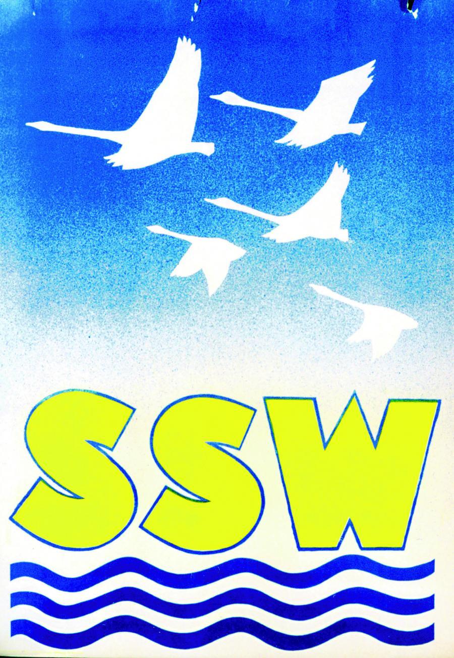Ikonisk SSW-valgplakat fra 1957 tegnet af Detlef Kall. (Kilde: Arkivet ved Dansk Centralbibliotek for Sydslesvig)